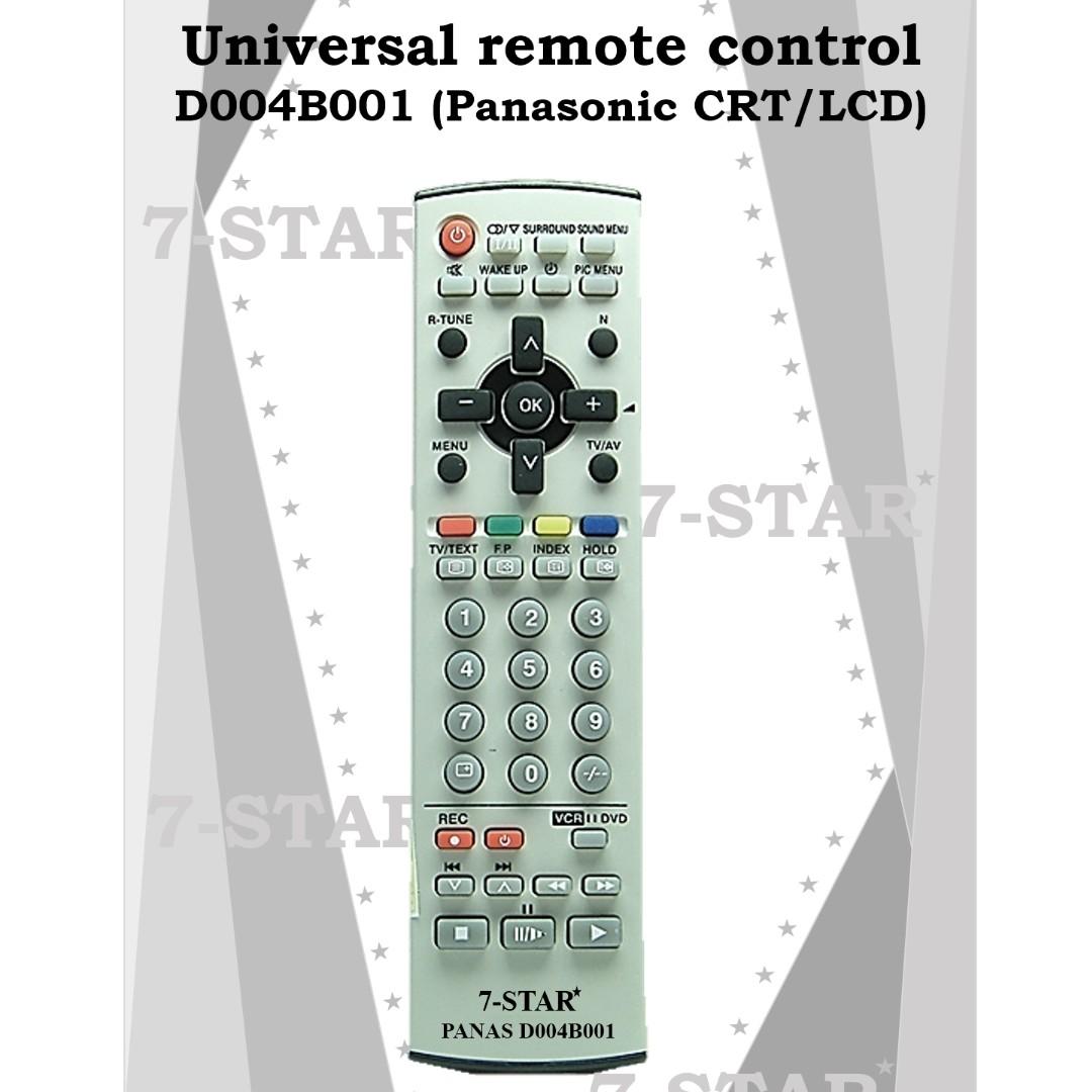 Panasonic TV Remote Control - Universal remote control D004B001 for all  (Panasonic CRT/LCD TV)