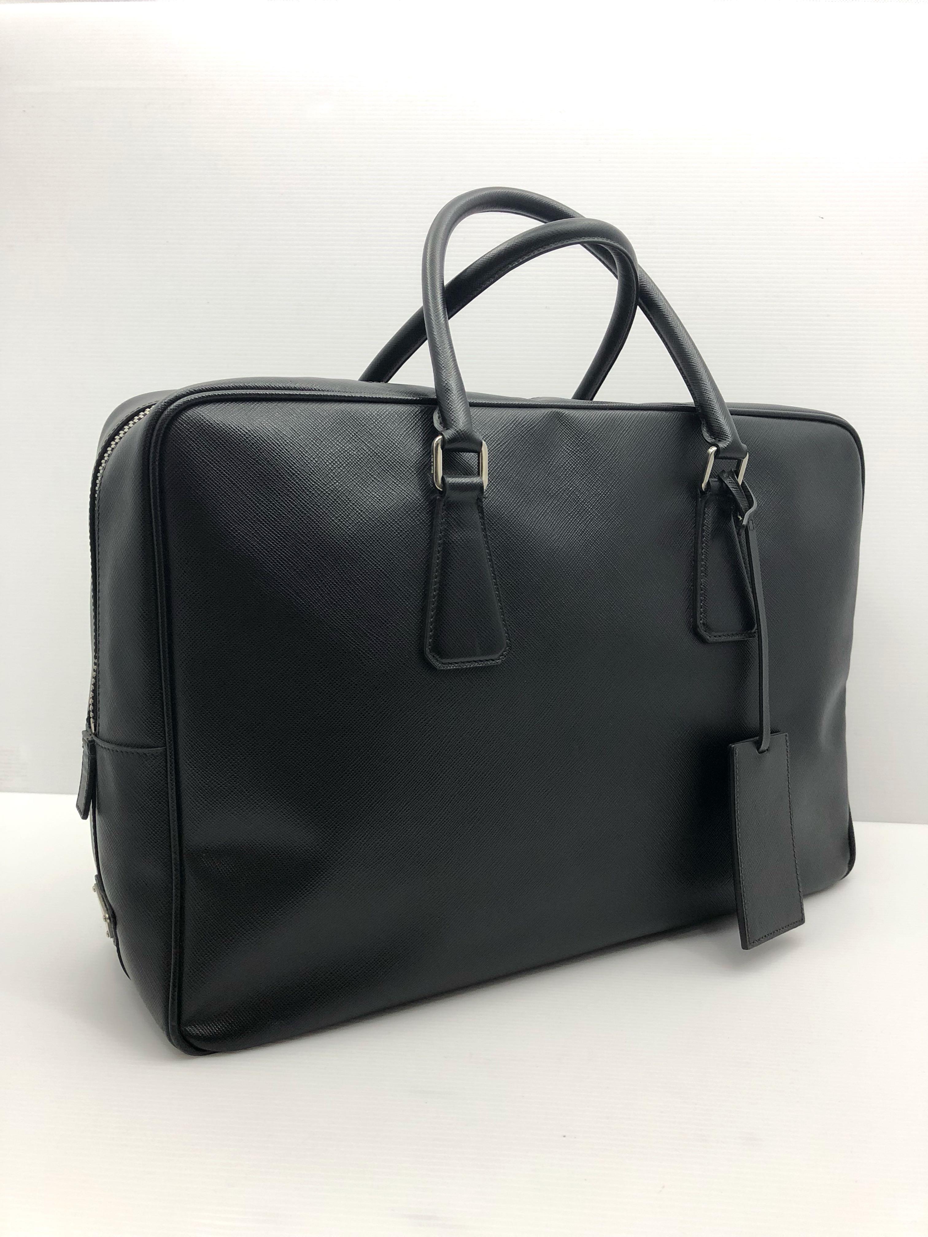 11547291b396 PRADA SAFFIANO LEATHER BUSINESS BAG 187003178, Men's Fashion, Bags ...