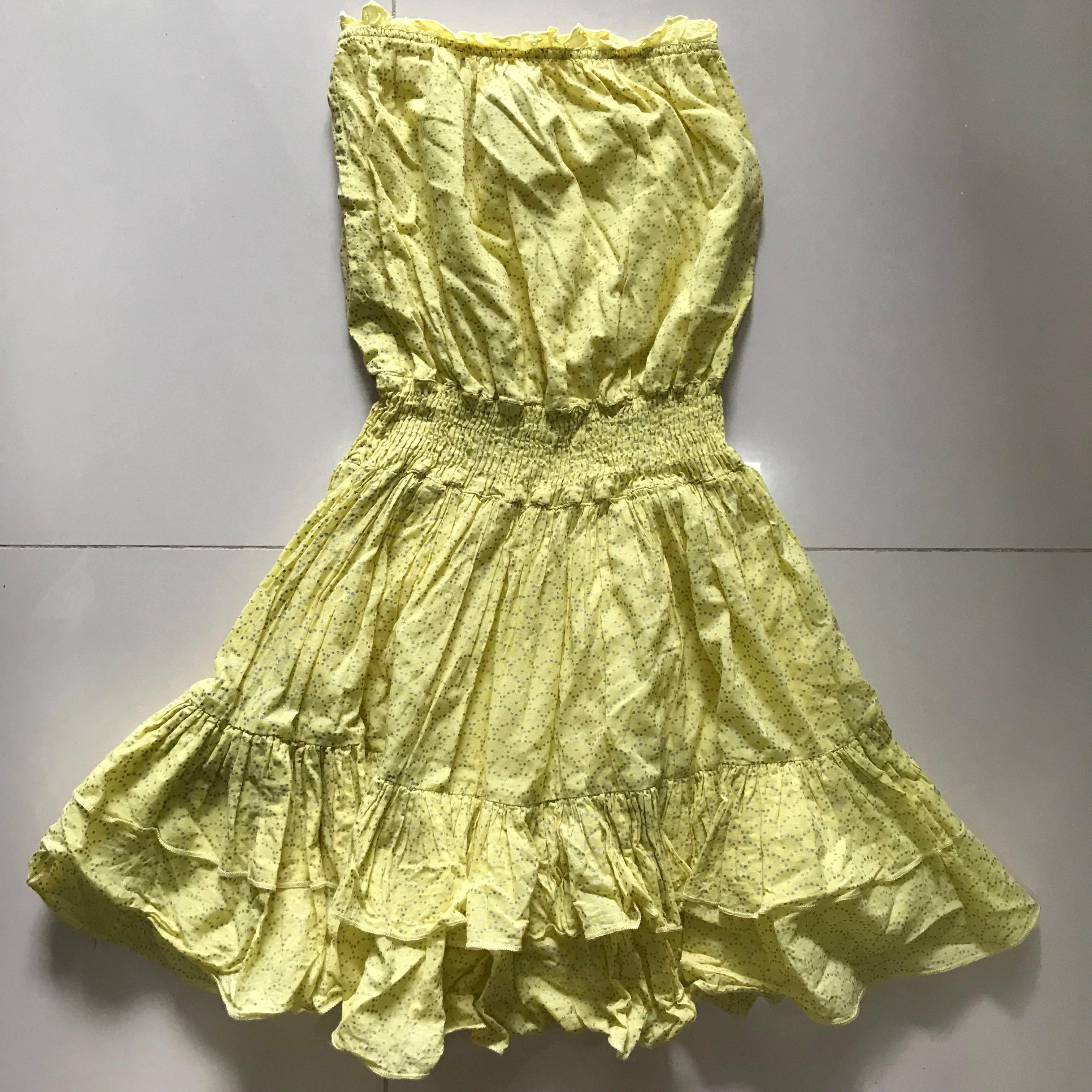 f6b46f97ced Preloved MODA International yellow tube dress