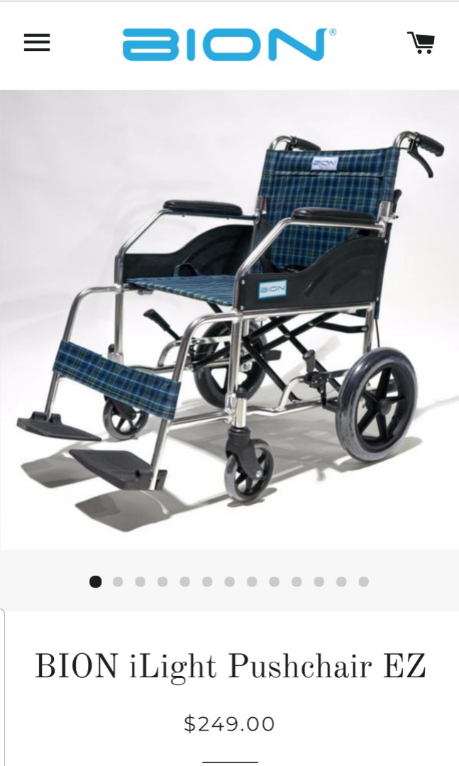 Price greatly reduced - Used only once foldable wheelchair