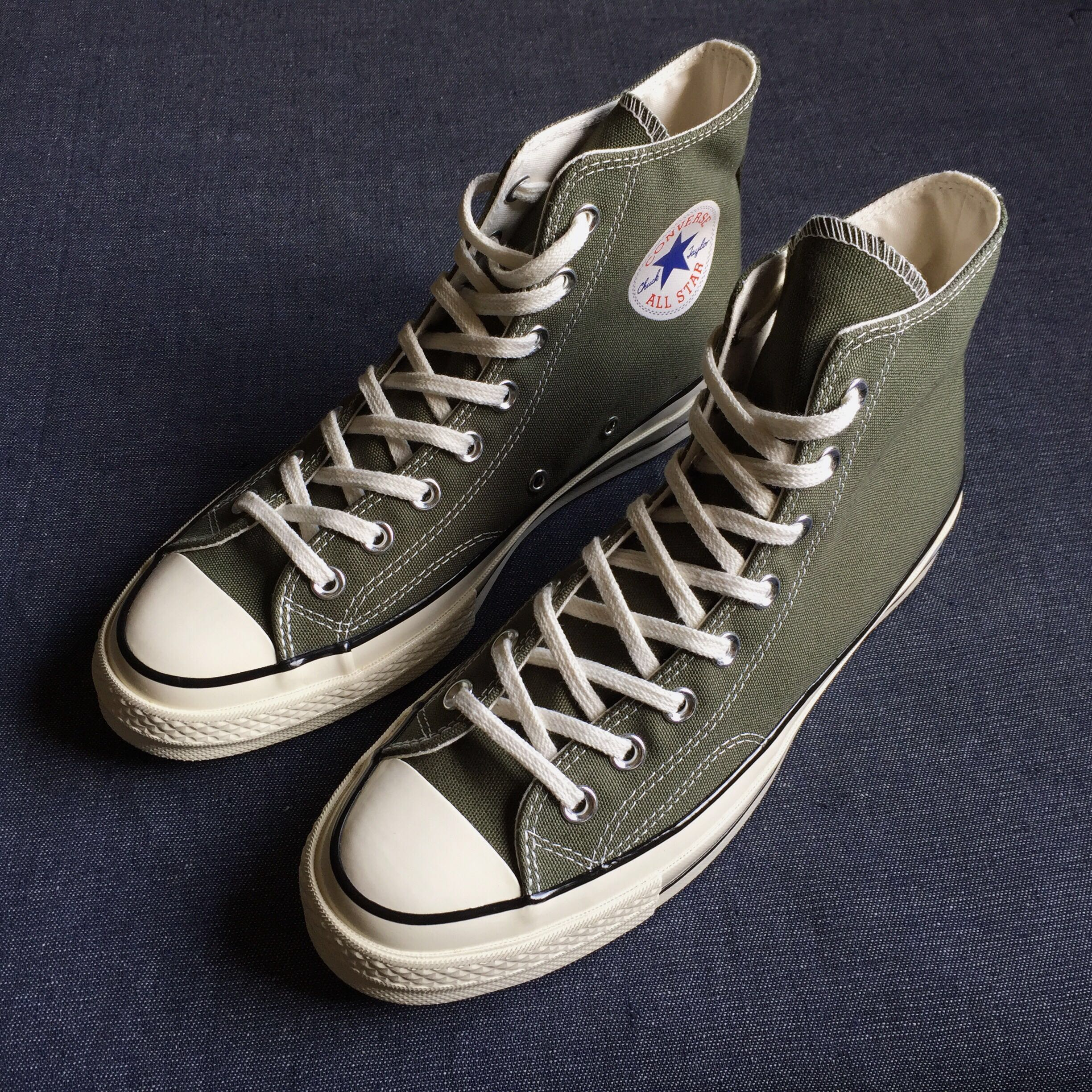 6c85932cda82 Rare Converse Chuck 70 High Top in Olive Green All Star