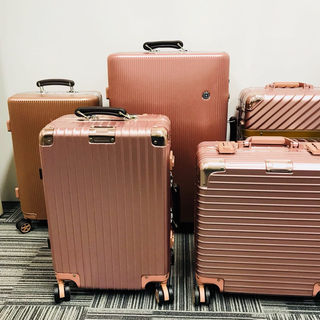 3b2cf87c4 Rosegold Luggage Bag From $170, Travel, Travel Essentials, Luggage ...