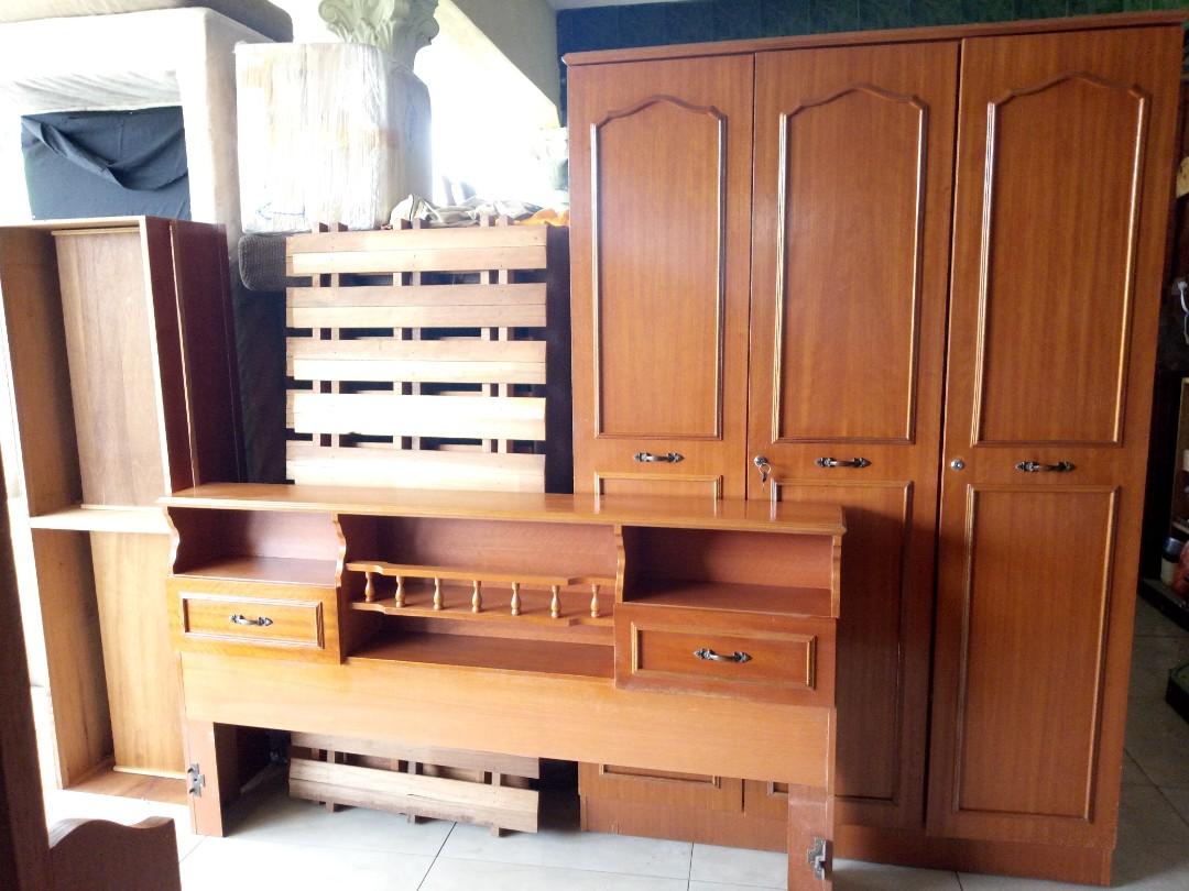 Set Bilik Tidur Katil Almari Baju Solek Home Furniture On Carou