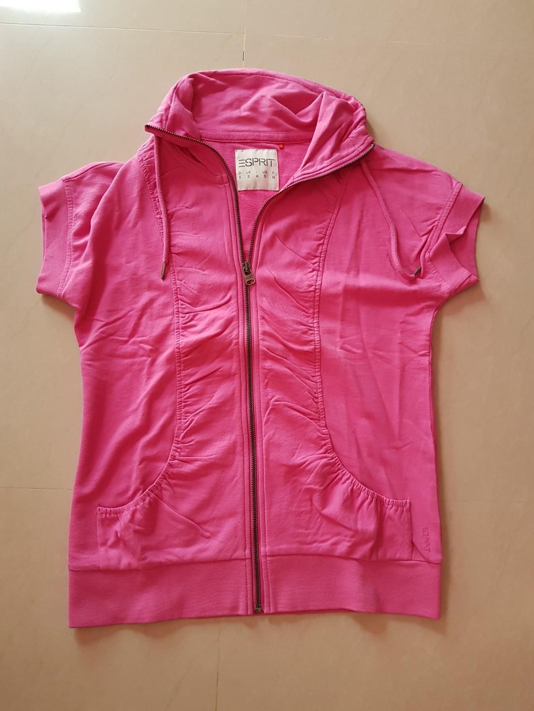 Short Sleeve Pink Jacket / Tops