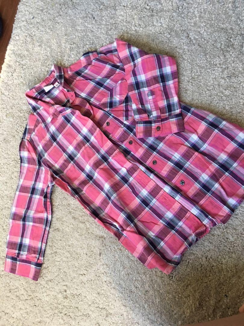 Uniqlo pink flannel