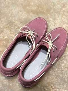 Timberland Women's Boat Shoes in Pink