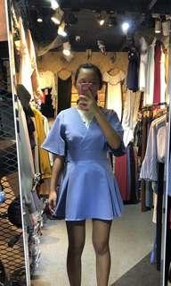 sky blue kimono wrap dress