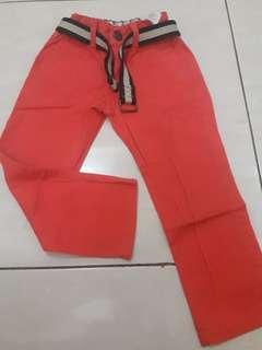 Celana Panjang anak include belt