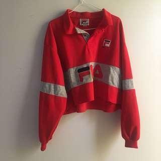 Vintage FILA - long sleeve cropped sweater