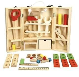 Wooden Carpentry Tool Set