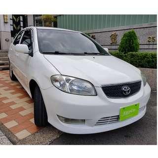 2004年Toyota Vios E版,保證實車實價在店車『 零頭款、免保人、3500即可交車、主打全額貸可超低月付$$4580』