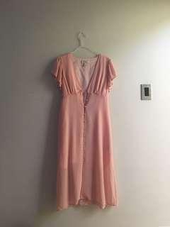 MED - F21 soft pink dress