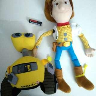Soft toy woody & Wall e