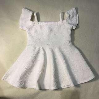Hello Kitty White Off Shoulder Dress