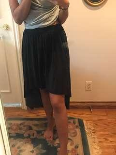 Pretty black skirt long in back short in front