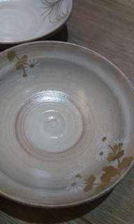 日本描金彩草花煮物鉢