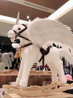我的時尚/胡迪木馬 白色獨角獸