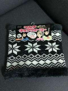 🚚 現貨 日本 超保暖 厚刷絨毛 柔軟 圍脖 脖圍圍巾 J