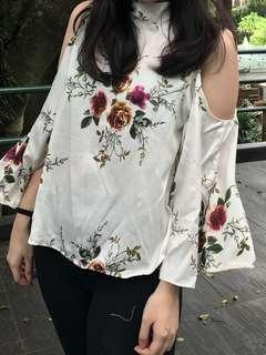 Floral Tops White