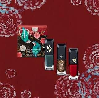 (包郵) 👸🏻Clé de Peau Beauté 限量版盈采節日彩粧系列 盈采甲油套套裝