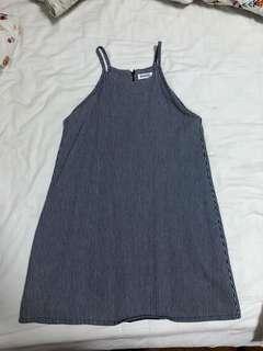 Stripey Dress in Navy
