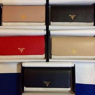 Brand New Prada Leather Wallets