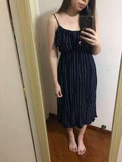 Stripey midi dress