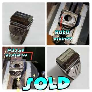 (SOLD)Cincin pendekar melayu ( besi kursani, kelor macan, misai harimau dan bulu perindu) sila baca keterangannya