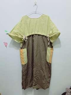 🚚 日系百貨專櫃👗 撞色洋裝