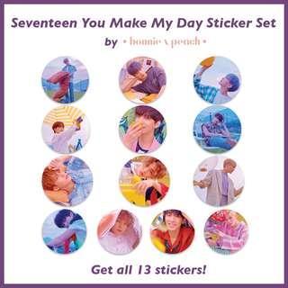 Seventeen You Make My Day Sticker Set