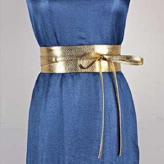 Gold obi belt