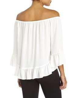 *REDUCED* Off Shoulder Ruffled 3/4 Blouse