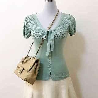 Jill Stuart blouse knitted crochet