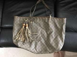 Used Authentic Gucci Shoulder Tote bag Monogram Classic Tassel