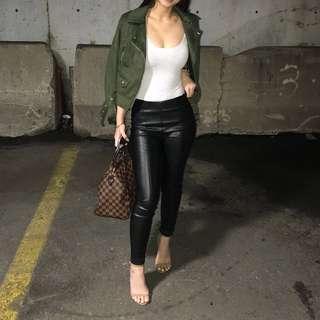 Zara Olive Suede Jacket