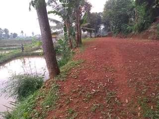 Tanah darat & empang luas 1700m di ciseeng Bogor