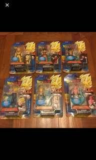 Dragon Ball Z 吸塑 全套六隻 未拆 BanDai出品