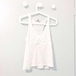 Zara white graphic top