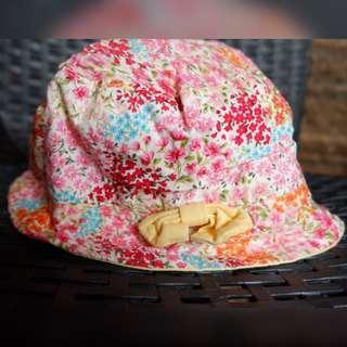 Baby girl reversible hat