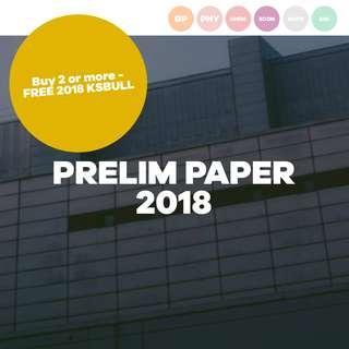 [UPDATED] 2018 PRELIM PAPER