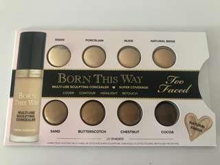 New Authentic Too Faced Born this way concealer card