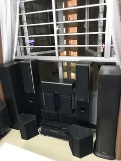 Assorted Mission and Onkyo speakers to let go