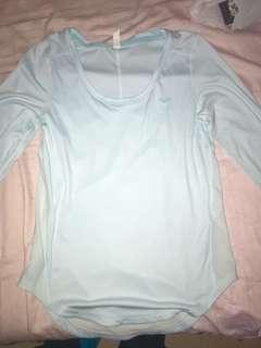 Under Armour light blue long sleeve workout top