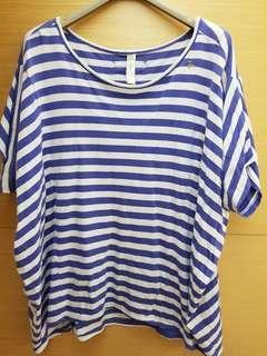 A la sha條紋造型上衣