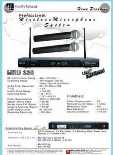 🎄MRU330 UHF WIRELESS MICROPHONE