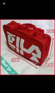 Authentic BNWT Fila Sports Gym Bag in Black and Red