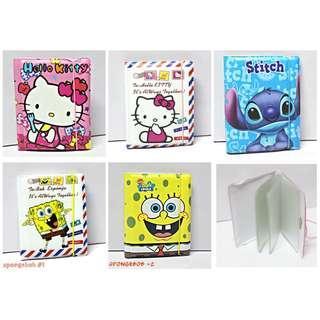 Hello Kitty / spongebob / stitch card organizer