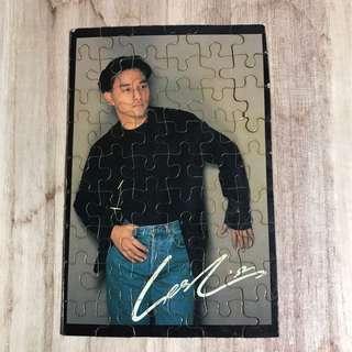 張國榮古董迷你puzzle砌圖磁石貼 超過三十年以上 Size : 13 x 8.5 cm 95% 新