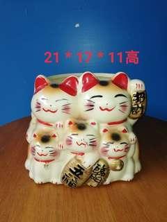 🚚 招財貓花器