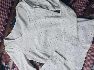 Polka dots stretchable long sleeves